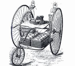 1881 Englishmen William Ayrton John Perry Build An Electric Tricycle The First Vehicle To Use Lights It Uses Lead Acid Cells Has A Range Of